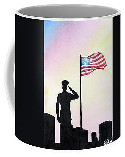 Coffee Mug featuring the painting We Remember by Betsy Hackett