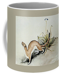 Coffee Mug featuring the painting Weasel And Snake Berry by Art MacKay