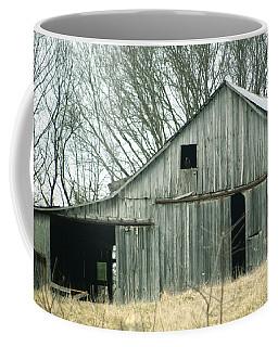 Weathered Barn In Winter Coffee Mug