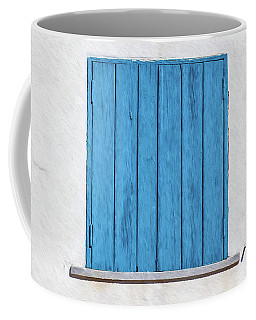 Weathered Blue Shutter Coffee Mug