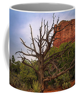 Weathered Tree At Courthouse Butte Coffee Mug