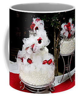 Wedding Cake And Red Roses Coffee Mug
