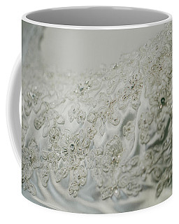 Wedding Dress Floral Beadwork Coffee Mug