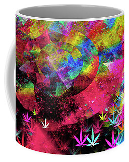 Weed Art - Colorful Pattern With Marijuana Symbols Coffee Mug by Matthias Hauser