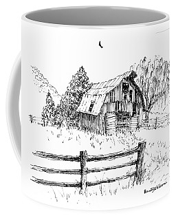 Weeping Willow And Barn One Coffee Mug