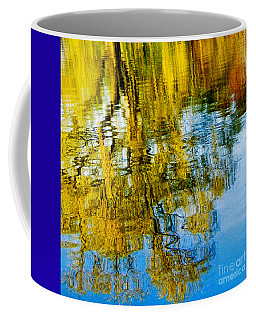 Reflective Lake Weeping Willow Tree  Wall Art Print Coffee Mug by Carol F Austin