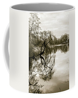 Weeping Willow Tree In The Winter Coffee Mug