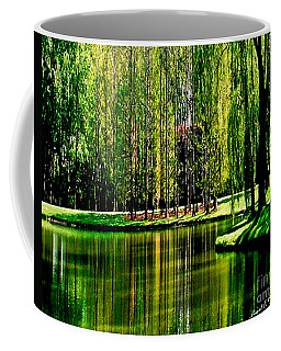 Weeping Willow Tree Reflective Moments Coffee Mug by Carol F Austin