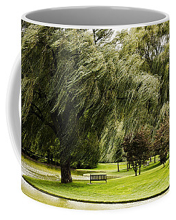 Weeping Willow Trees On Windy Day Coffee Mug