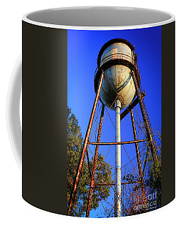 Coffee Mug featuring the photograph Weighty Water Cotton Mill  Water Tower Art by Reid Callaway