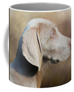 Coffee Mug featuring the painting Weimaraner Adult - Painting by Ericamaxine Price