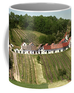 Coffee Mug featuring the photograph Weinviertel Kellergasse by Menega Sabidussi