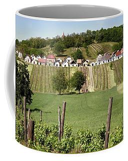 Coffee Mug featuring the photograph Weinviertel Landschaft Galgenberg Kellergasse by Menega Sabidussi