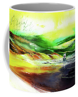 Coffee Mug featuring the painting Welcome Back by Anil Nene
