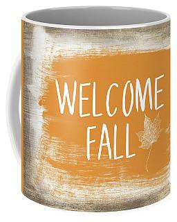 Welcome Fall Sign- Art By Linda Woods Coffee Mug