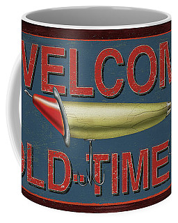 Welcome Fishing Sign Coffee Mug