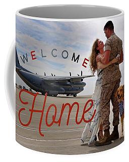 Coffee Mug featuring the digital art Welcome Home by Kathy Tarochione