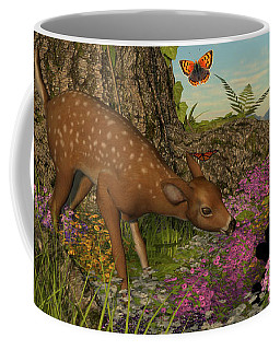 Coffee Mug featuring the digital art Welcome Spring by Methune Hively