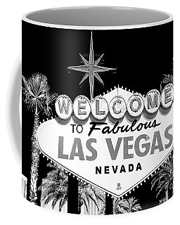 Welcome To Las Vegas Black And White Coffee Mug