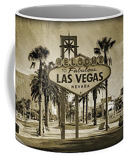 Welcome To Las Vegas Series Sepia Grunge Coffee Mug