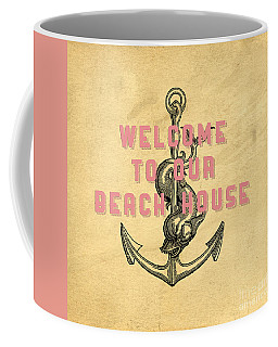 Coffee Mug featuring the digital art Welcome To Our Beach House by Edward Fielding