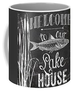 Welcome To Our Lake House Sign Coffee Mug