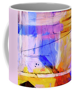 Coffee Mug featuring the painting Welder by Dominic Piperata