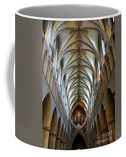 Wells Cathedral Ceiling  Coffee Mug by Lexa Harpell