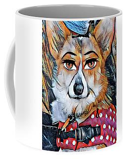 Coffee Mug featuring the digital art Welsh Corgi Portrait by Kathy Kelly