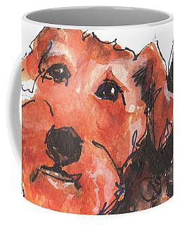 Welsh Terrier Or Schnauzer Watercolor Painting By Kmcelwaine Coffee Mug
