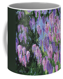 Coffee Mug featuring the painting Wendy's Wisteria by Jamie Frier