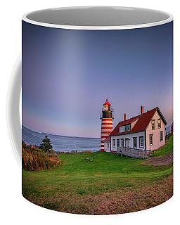 West Quoddy Head Light At Dusk Coffee Mug