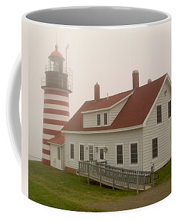 West Quoddy In Fog Coffee Mug