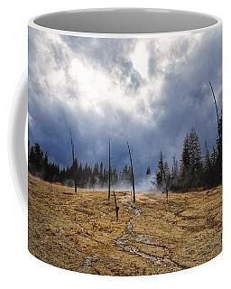 Coffee Mug featuring the photograph West Thumb Geyser Basin   by Lars Lentz