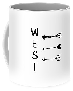 West With Arrows- Art By Linda Woods Coffee Mug