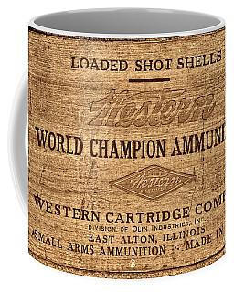 Western Ammunition Box Coffee Mug by American West Legend By Olivier Le Queinec