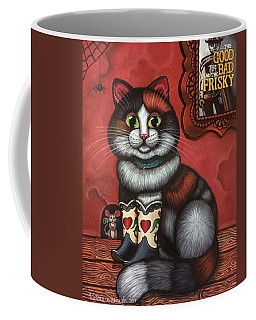 Western Boots Cat Painting Coffee Mug