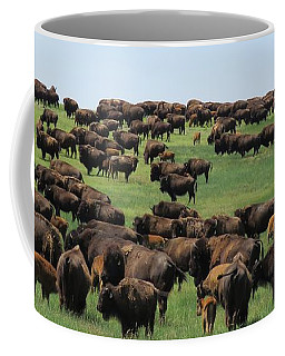 Western Kansas Buffalo Herd Coffee Mug