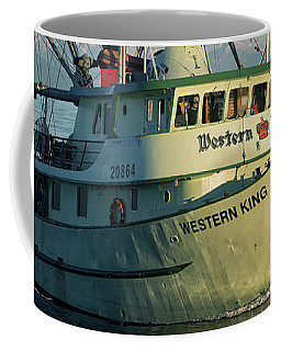 Coffee Mug featuring the photograph Western King At Breakwater by Randy Hall