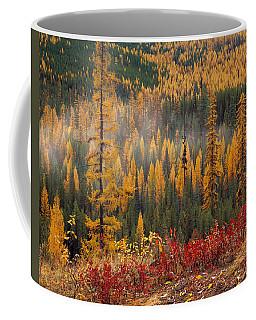 Western Larch Forest Autumn Coffee Mug