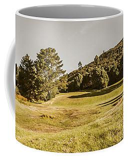 Western Tasmania Grassland Panorama Coffee Mug