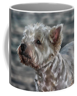 Westie Love Coffee Mug by Clare Bevan