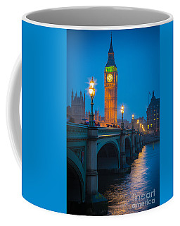 Westminster Bridge At Night Coffee Mug