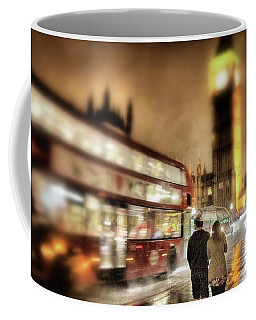 Westminster Bridge In Rain Coffee Mug