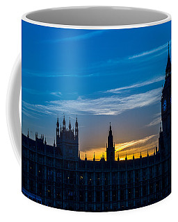 Westminster Parlament In London Golden Hour Coffee Mug