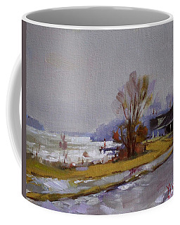 Wet And Icy At Gratwick Waterfront Park Coffee Mug