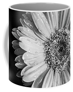 Coffee Mug featuring the photograph Wet Daisy In Monochrome by SR Green