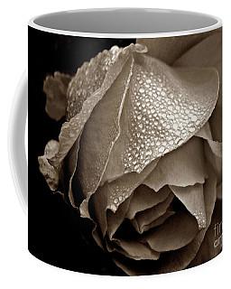 Wet Rose In Sepia Coffee Mug
