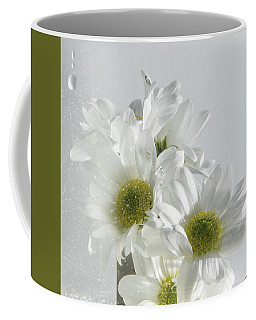 Wet White Flowers Coffee Mug