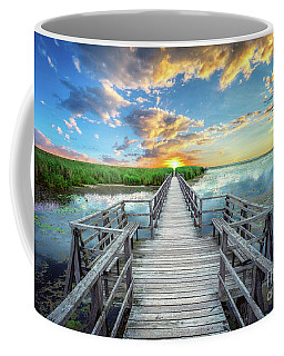 Wetland Marsh Sunrise Treasure Coast Florida Boardwalk A1 Coffee Mug